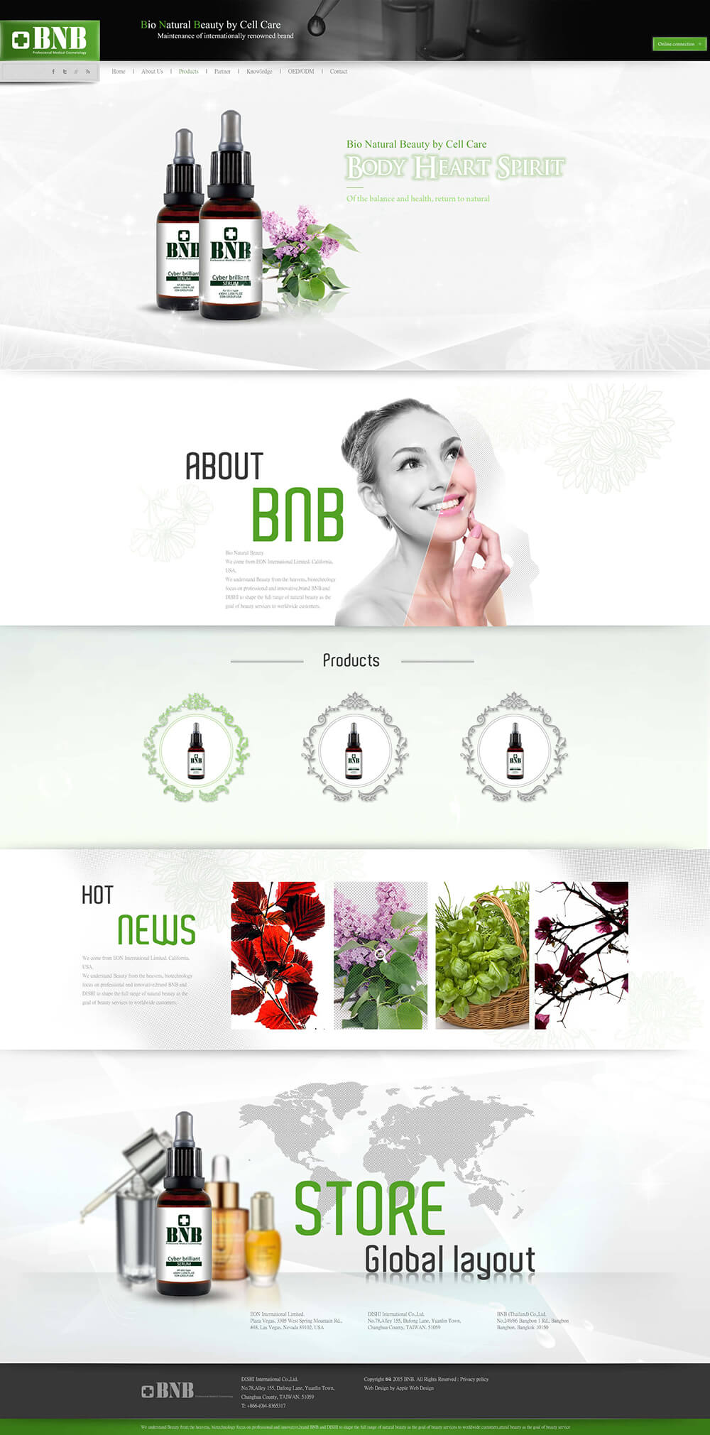 Bio Natural Beauty官網設計
